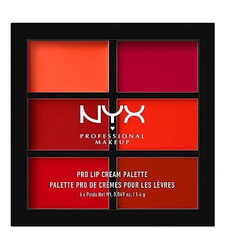 NYX PROFESSIONAL MAKEUP Pro lip cream palette (Reds