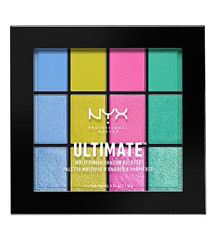 NYX PROFESSIONAL MAKEUP 终极 multi-finish 眼影调色板 (电动