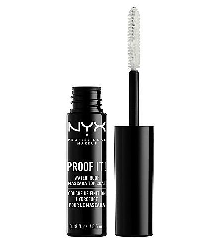 NYX PROFESSIONAL MAKEUP 证明它! 防水睫毛膏表层