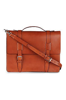 RALPH LAUREN ACCESSORIES Leather messenger bag
