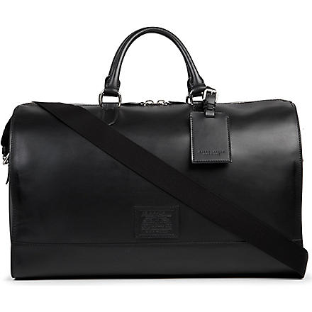 RALPH LAUREN ACCESSORIES Embossed leather duffle bag (Black