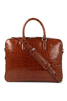 RALPH LAUREN ACCESSORIES Alligator attaché bag