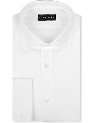 RALPH LAUREN BLACK LABEL Bond regular-fit double-cuff shirt