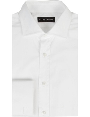 RALPH LAUREN BLACK LABEL Bond tailored double-cuff cotton shirt
