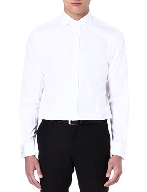 RALPH LAUREN BLACK LABEL Spread-collar shirt