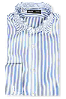 RALPH LAUREN BLACK LABEL Fine stripe spread collar shirt