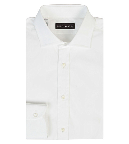 RALPH LAUREN BLACK LABEL Bond cotton shirt (White