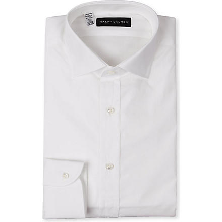 RALPH LAUREN BLACK LABEL Regular-fit single-cuff shirt (White