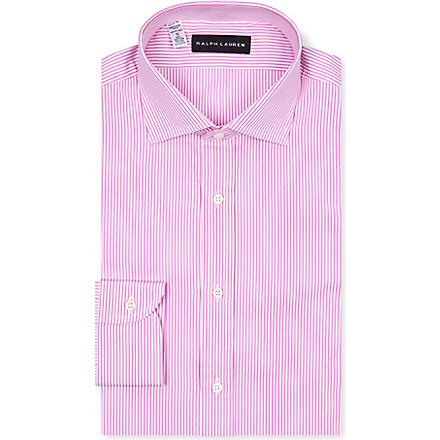 RALPH LAUREN BLACK LABEL Striped regular-fit shirt (Pink & white
