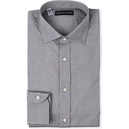 RALPH LAUREN BLACK LABEL Spread-collar single-cuff shirt (Grey