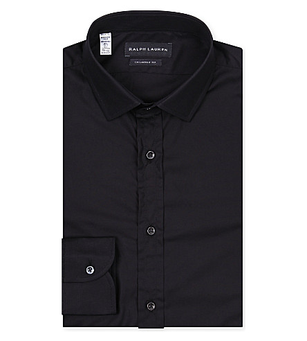 RALPH LAUREN BLACK LABEL Tailored cotton shirt (Black