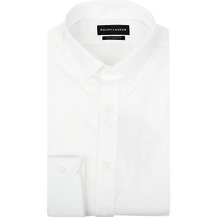 RALPH LAUREN BLACK LABEL Tailored cotton shirt (White