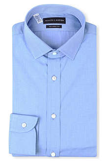 RALPH LAUREN BLACK LABEL Tailored-fit spread-collar single-cuff shirt