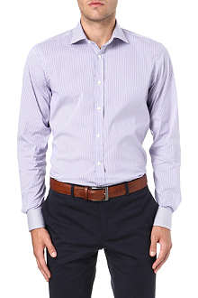 RALPH LAUREN BLACK LABEL Striped spread-collar single-cuff shirt