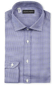 RALPH LAUREN BLACK LABEL Gingham-print regular-fit shirt