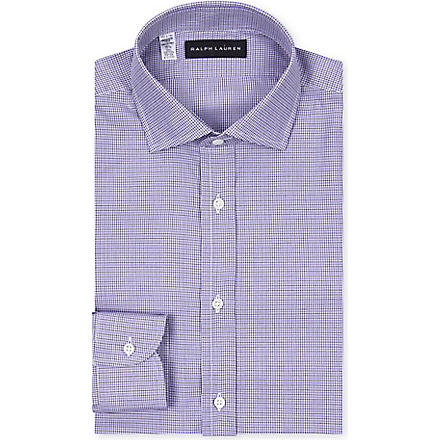 RALPH LAUREN BLACK LABEL Regular-fit checked shirt (Purple+w/black