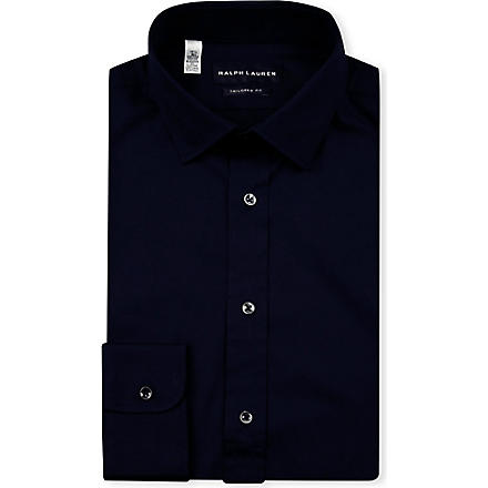 RALPH LAUREN BLACK LABEL Tailored-fit shirt (Navy