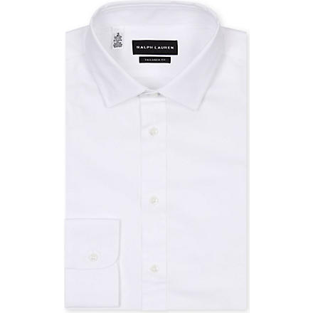 RALPH LAUREN BLACK LABEL Tailored-fit shirt (White