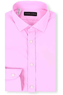 RALPH LAUREN BLACK LABEL Button-down collar cotton shirt