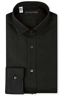 RALPH LAUREN BLACK LABEL Linen single-cuff shirt