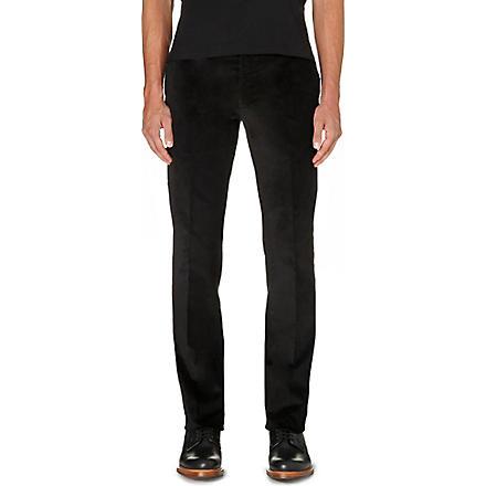 RALPH LAUREN BLACK LABEL Nigel regular-fit straight leg corduroy trousers (Black