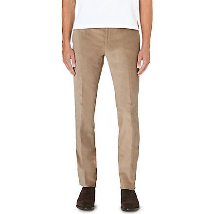 RALPH LAUREN BLACK LABEL Nigel regular-fit straight leg corduroy trousers (Stone