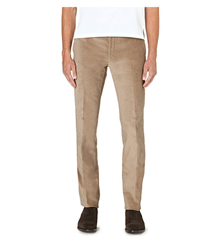 RALPH LAUREN BLACK LABEL Nigel regular-fit straight leg corduroy trousers (Stone