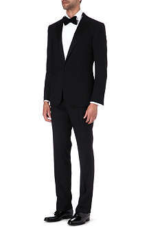 RALPH LAUREN BLACK LABEL Anthony satin contrast suit