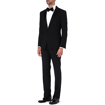 RALPH LAUREN BLACK LABEL Anthony satin contrast suit (Black
