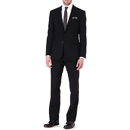 RALPH LAUREN BLACK LABEL Anthony two-button wool suit (Black