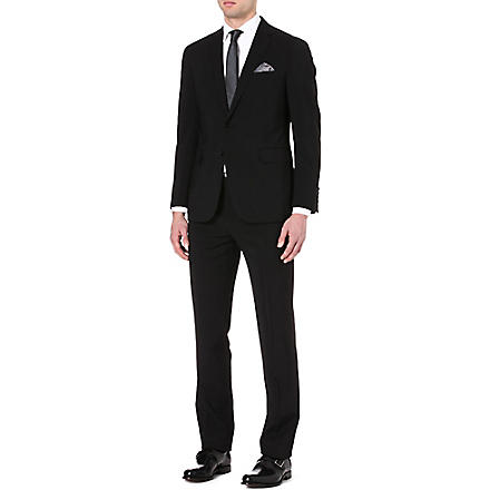 RALPH LAUREN BLACK LABEL Nigel single-breasted wool suit (Black