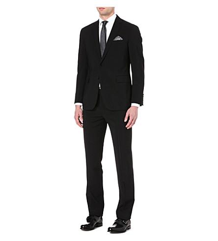 RALPH LAUREN BLACK LABEL Nigel single-breasted wool suit (Black
