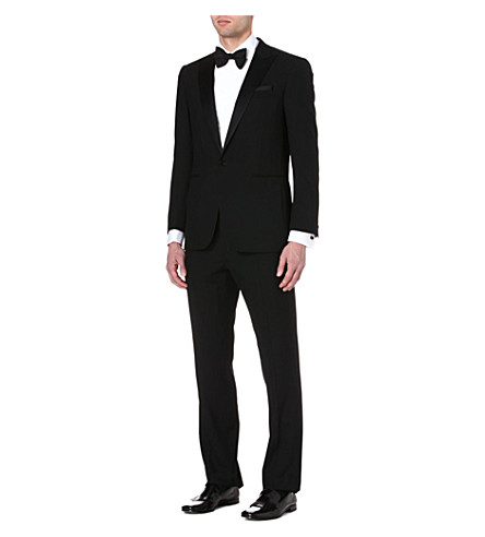 RALPH LAUREN BLACK LABEL Single-breasted wool tuxedo (Black