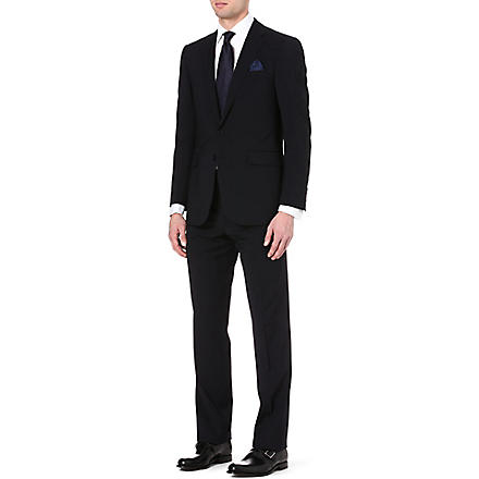 RALPH LAUREN BLACK LABEL Single-breasted wool suit (Navy