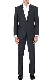 RALPH LAUREN BLACK LABEL Grey wool suit