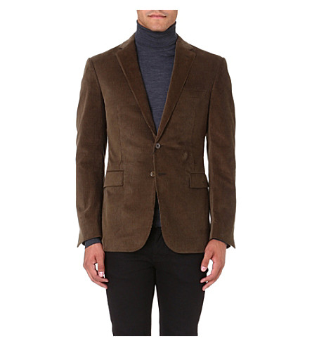 RALPH LAUREN BLACK LABEL St Nigel corduroy jacket (Olive