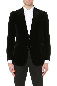 RALPH LAUREN BLACK LABEL Anthony velvet suit jacket