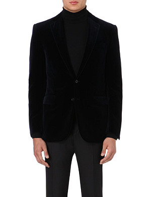 RALPH LAUREN BLACK LABEL Single-breasted velvet blazer