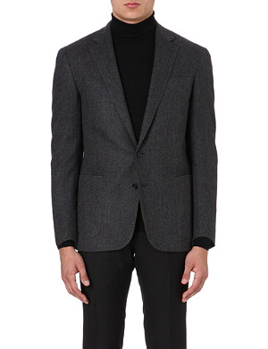 RALPH LAUREN BLACK LABEL Daniel single-breasted wool blazer