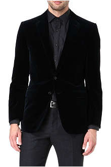 RALPH LAUREN BLACK LABEL Anthony single-breasted velvet blazer