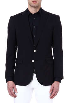 RALPH LAUREN BLACK LABEL Anthony silver-button blazer