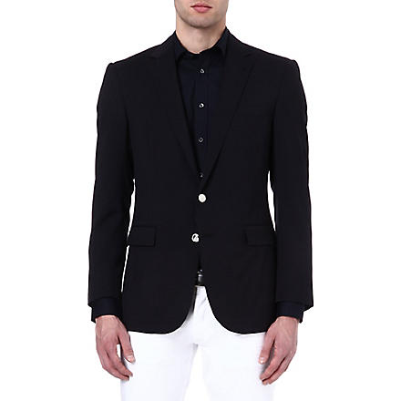 RALPH LAUREN BLACK LABEL Anthony silver-button blazer (Navy