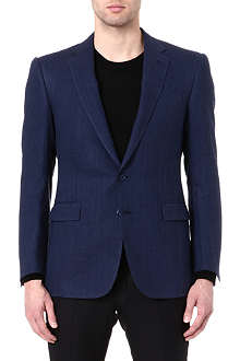 RALPH LAUREN BLACK LABEL Single-breasted linen blazer