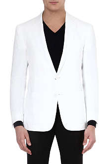 RALPH LAUREN BLACK LABEL Linen single-breasted blazer