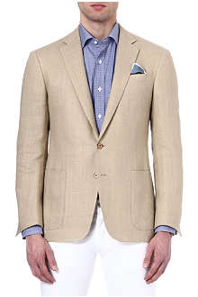 RALPH LAUREN BLACK LABEL Single-breasted notch-lapel linen blazer