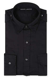 RALPH LAUREN BLACK LABEL Military cotton shirt