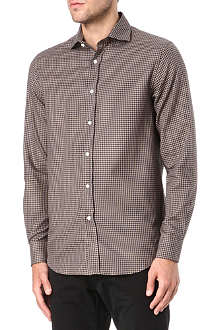 RALPH LAUREN BLACK LABEL Spread collar gingham shirt