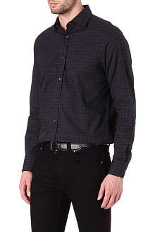 RALPH LAUREN BLACK LABEL Spread-collar single-cuff shirt
