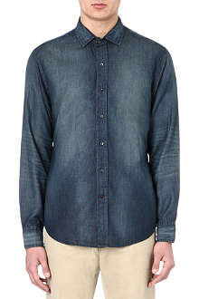 RALPH LAUREN BLACK LABEL Denim-effect shirt