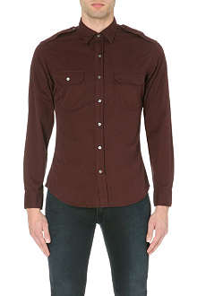 RALPH LAUREN BLACK LABEL Military slim-fit cotton shirt